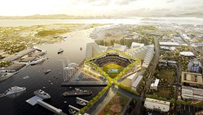 A's waterfront park to open in '23