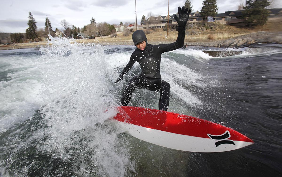 Catching winter waves at the Bend Whitewater Park