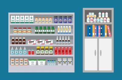 Veterinary clinics often include pharmacies