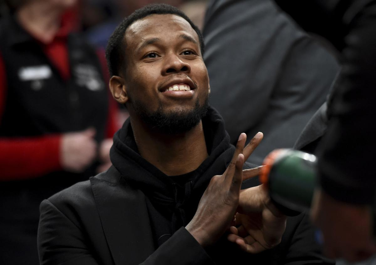 Blazers' Rodney Hood tackling rehab with patience, positivity
