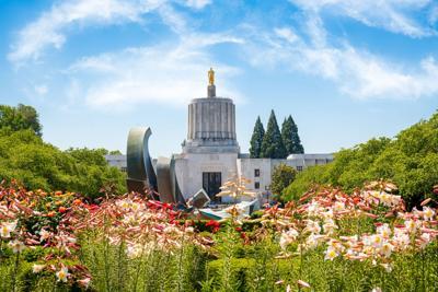 Salem, Oregon, USA at the State Capitol