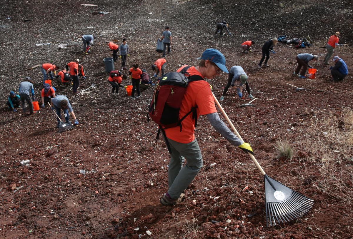 REI, nonprofits remove truckloads of trash from Cabin Butte Pit