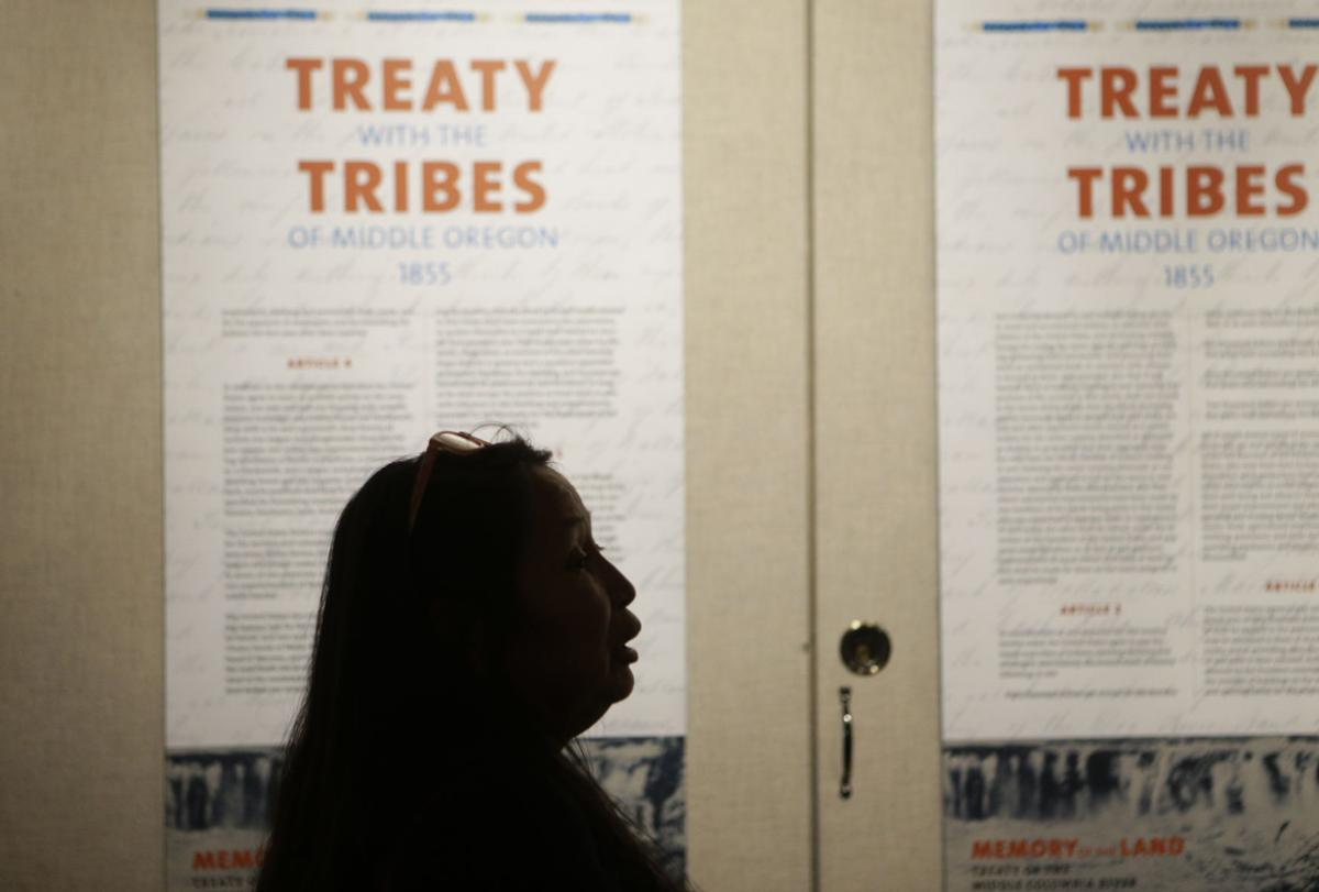 Jefferson County school officials see Warm Springs tribes' original 1855 treaty