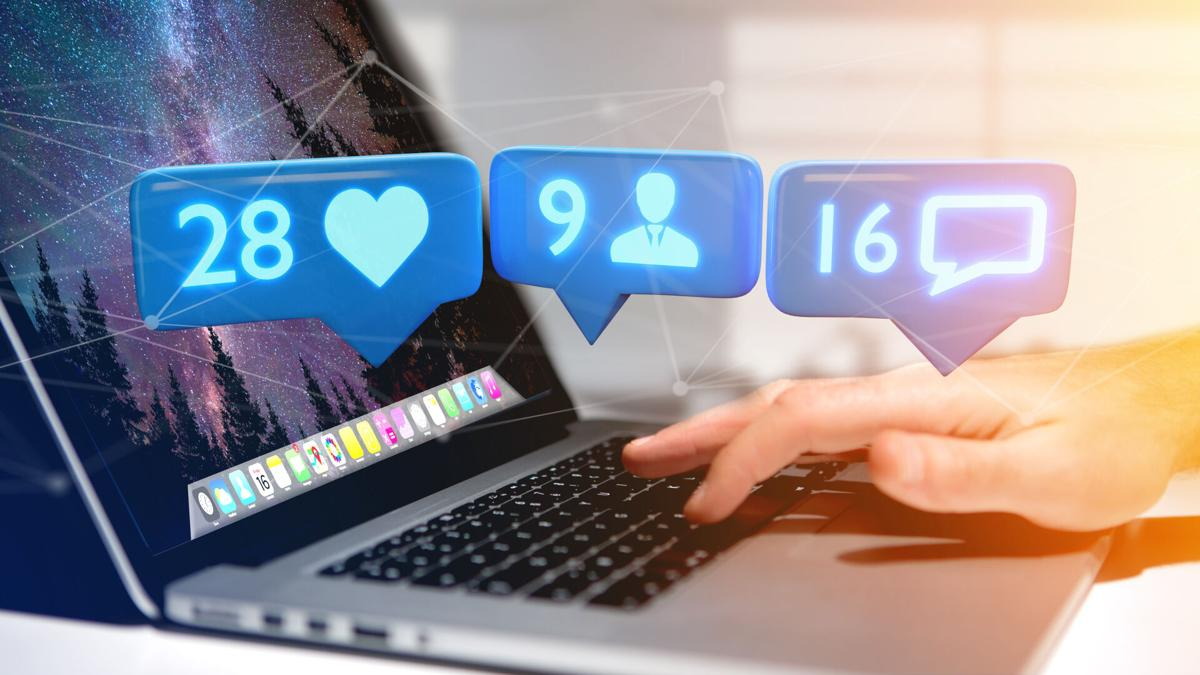 whiteboard media - facebook laptop