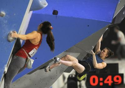 Olympic hopefuls, including Smith Rock climber, compete at Redmond bouldering nationals