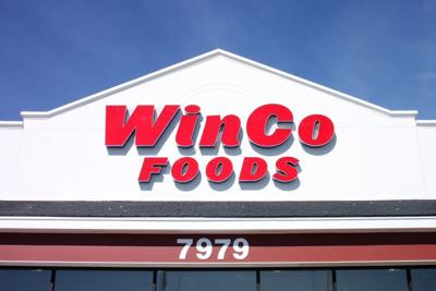 A WinCo Foods sign is pictured in a file photo.