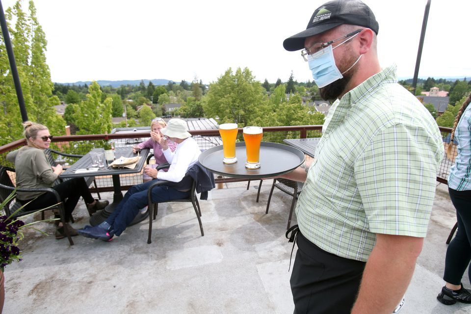 McMenamins Hotel Oregon in McMinnville reopened last week -- but with new workplaces practices to prevent the spread of the coronavirus.