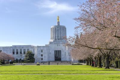 State capitol building Salem Oregon.