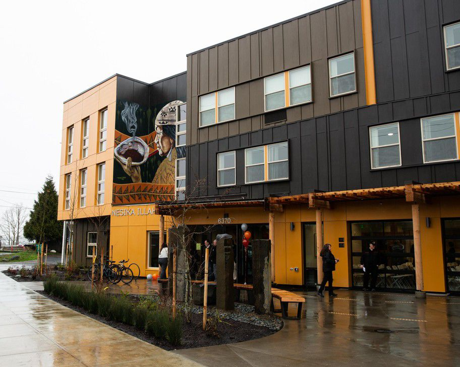 A 1st-of-its-kind affordable housing community for Native Americans opens In Portland