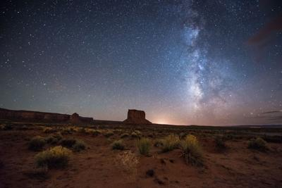 Night at the Monument Valley. Utah.