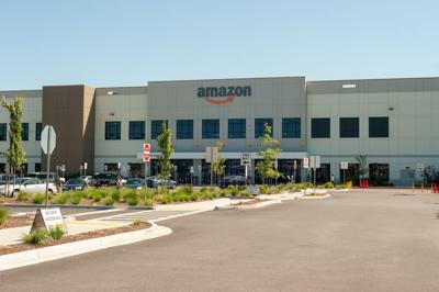 Amazon hosted a grand opening and media tour for the one-year anniversary of the robotics fulfillment center in Troutdale, Oregon on August 1, 2019. (copy)