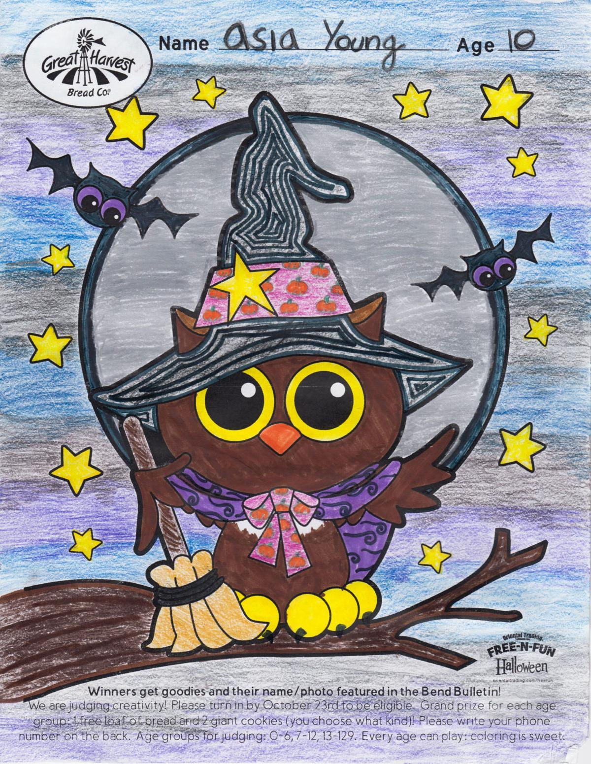 Halloween coloring contest winners announced | Lifestyle