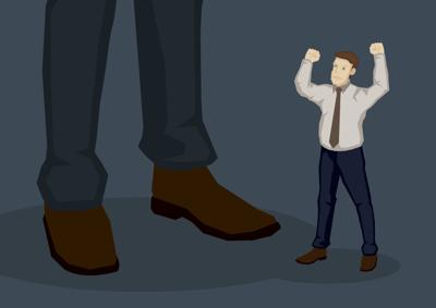 Employee Angry with Higher Management Vector Cartoon Illustration