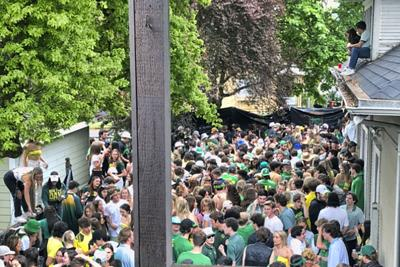 Virus Outbreak Oregon Football-Parties