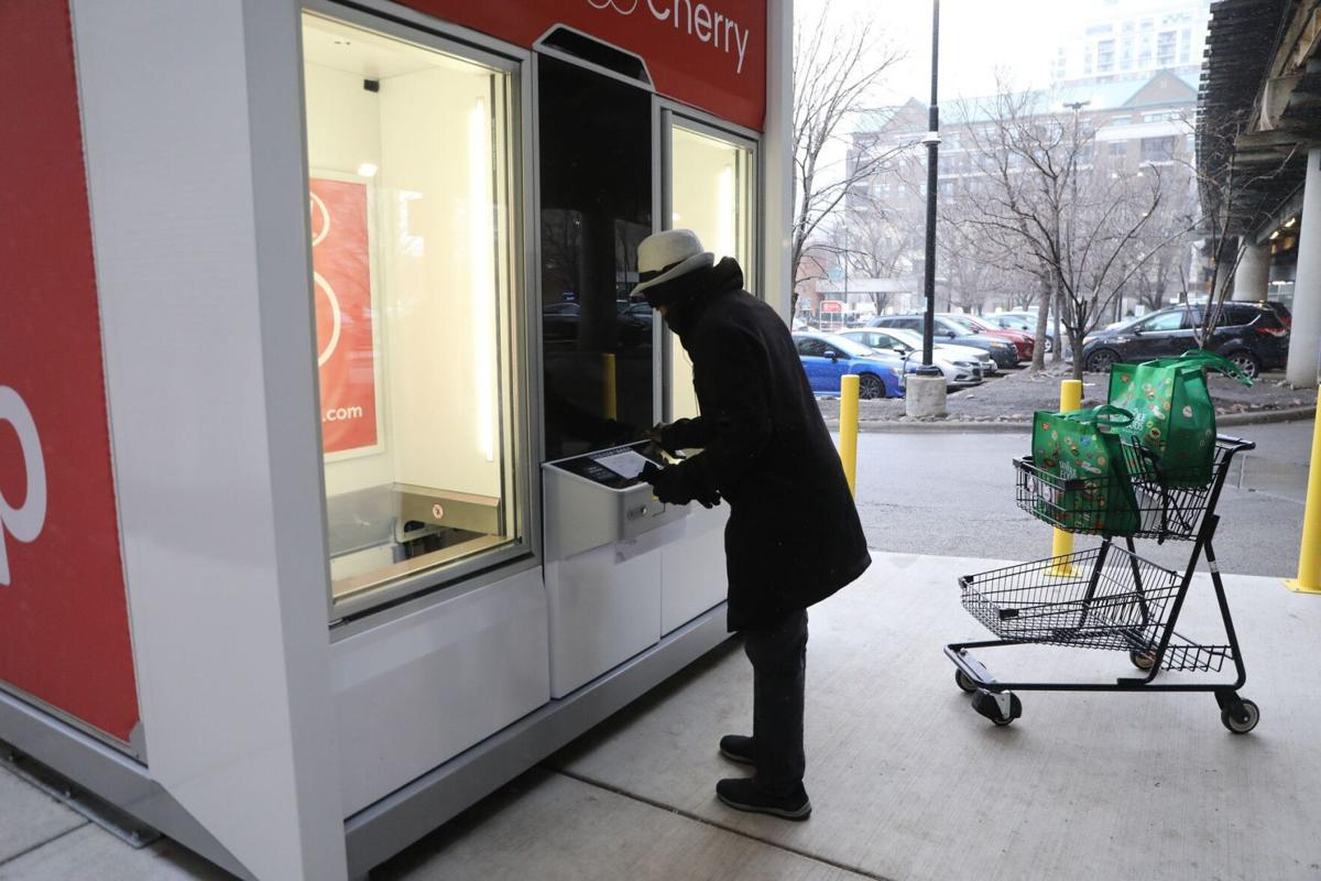 Jewel-Osco is testing an automated pickup kiosk in Chicago's South Loop, a first for an American grocer.