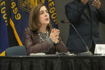 Gov. Kate Brown has made Oregon one of only two states in the nation to give the green light for school employees to receive COVID-19 vaccinations but not seniors. The other state is Idaho. (copy)