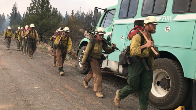 Oregon wildfires grow in south and northeast