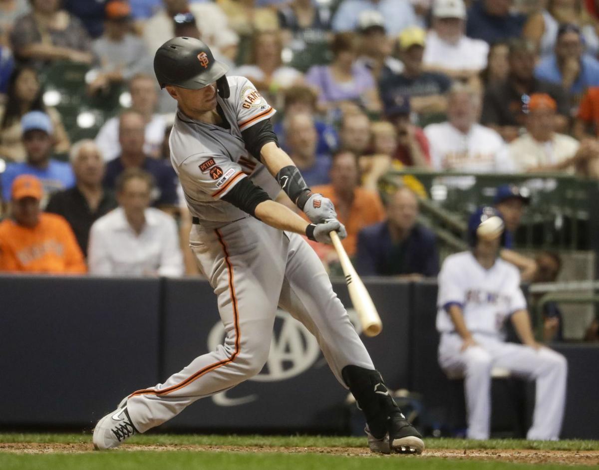 Giants Brewers Baseball - Buster Posey