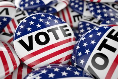 American vote button