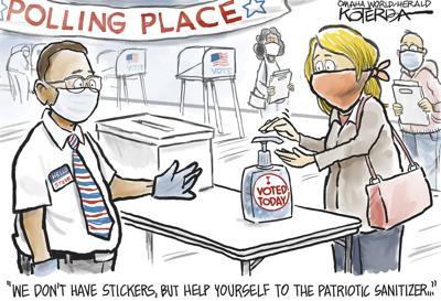 polling place cartoon