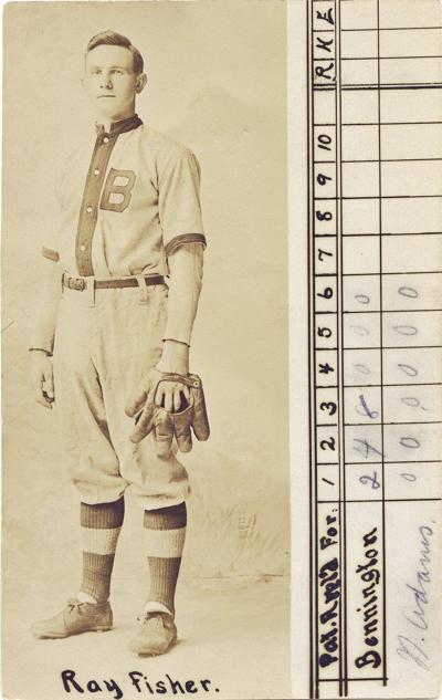 From Bennington Museum's collection: Baseball Scorecard with Ray Fisher, 1911