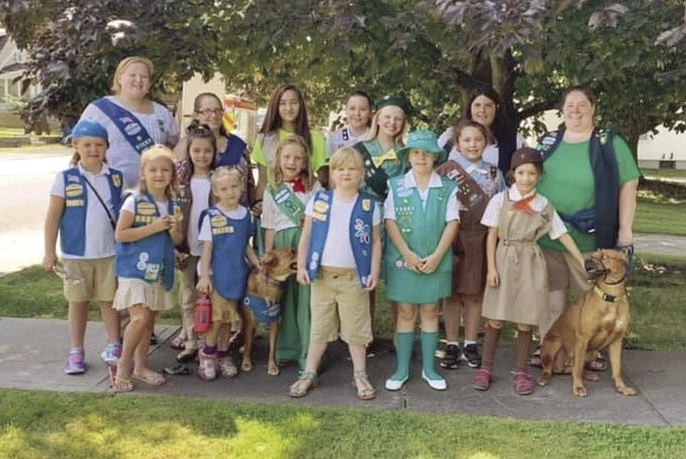 Emily and Girl Scouts in various uniforms-T5.jpg