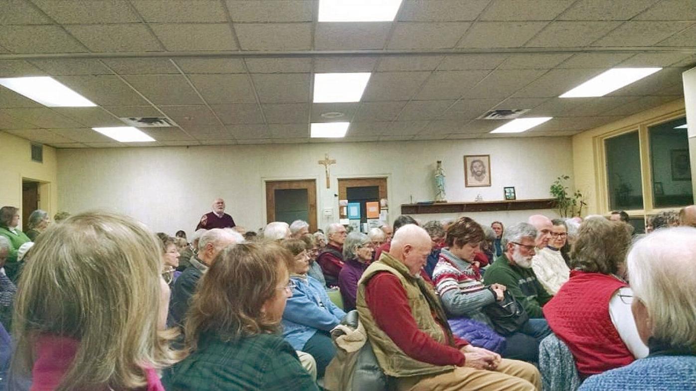 Bishop speaks against new abortion bill at community meeting