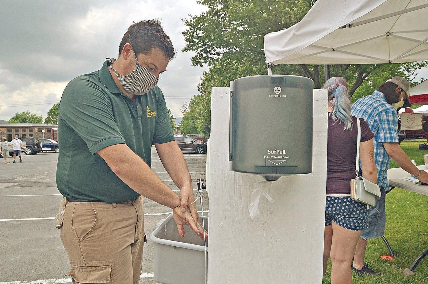 Hand-washing station makes impression at Farmers Market
