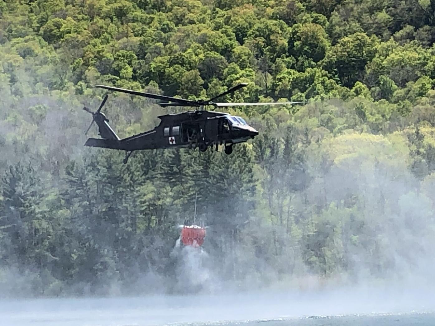 Helicopter water