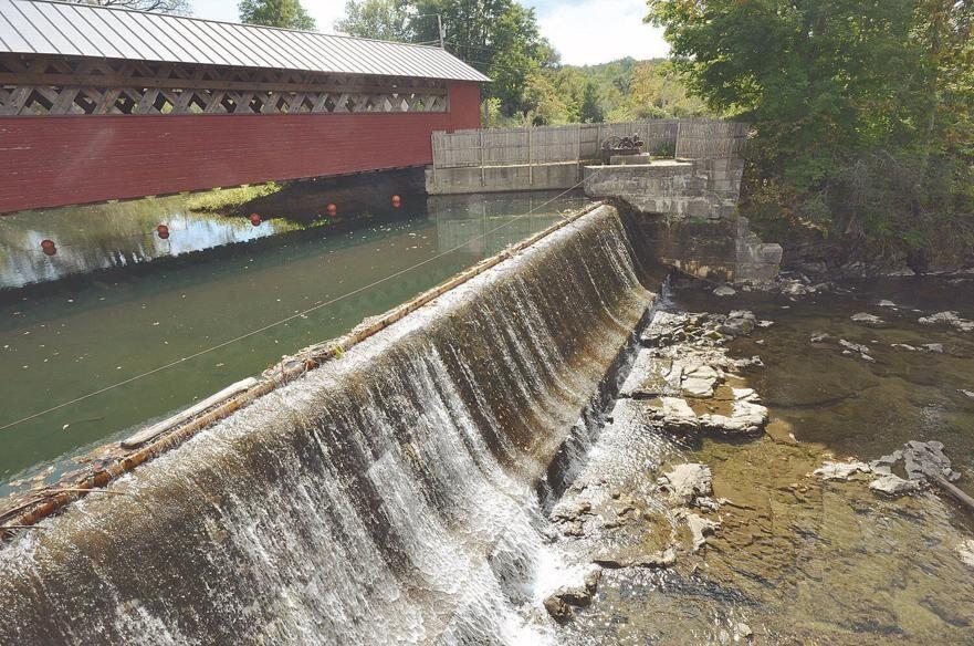 Tissue mill hydro dam