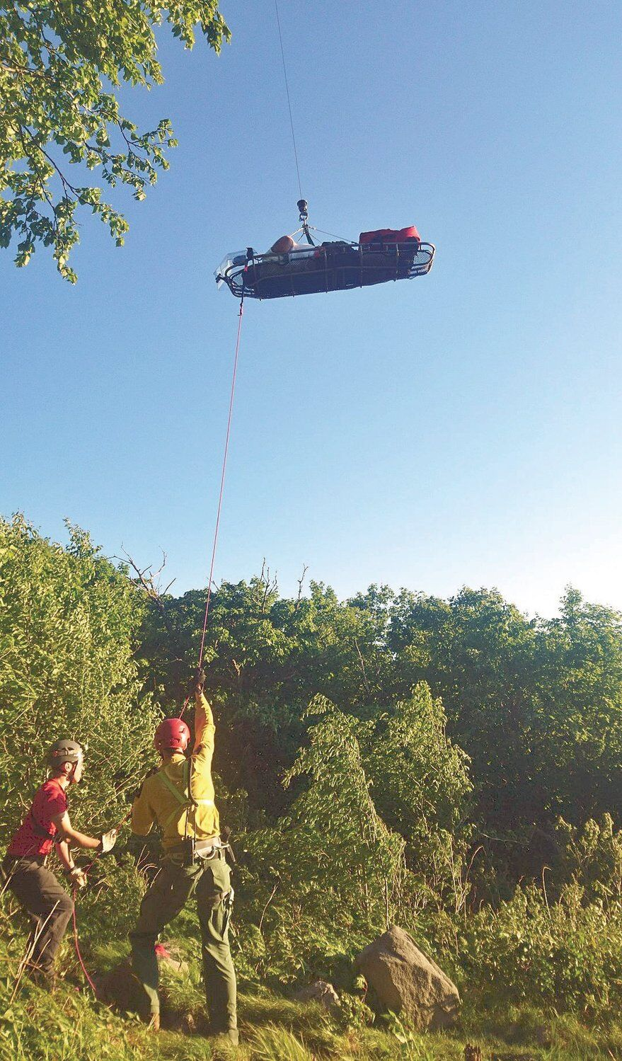 Stricken hiker airlifted from Long Trail