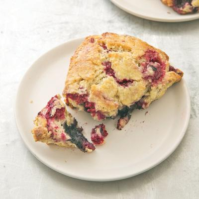 Berry scones are a flaky, honey-glazed brunch delight
