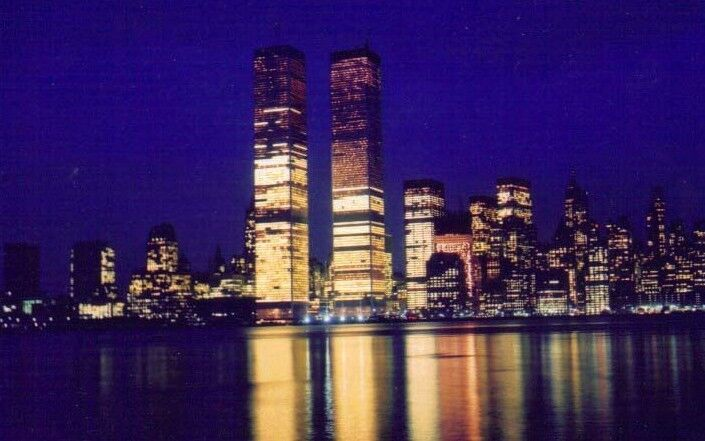 Twin towers, nite shot, from new jersey.JPG