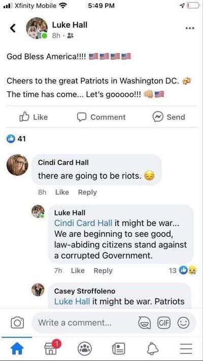 hall facebook screenshot