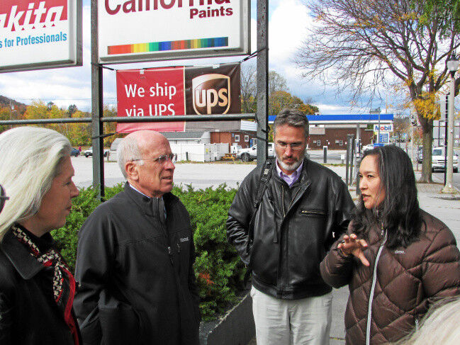 U.S. Rep. Peter Welch tours Putnam Block; pledges support to redevelopment project