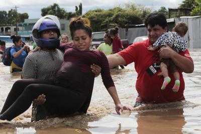 APTOPIX Honduras Tropical Weather