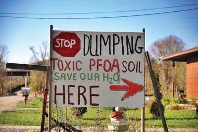 North Bennington man protests dumping of PFOA soil