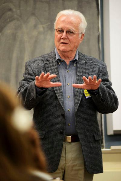 Author Russell Banks offers writing advice to Hoosick Falls students