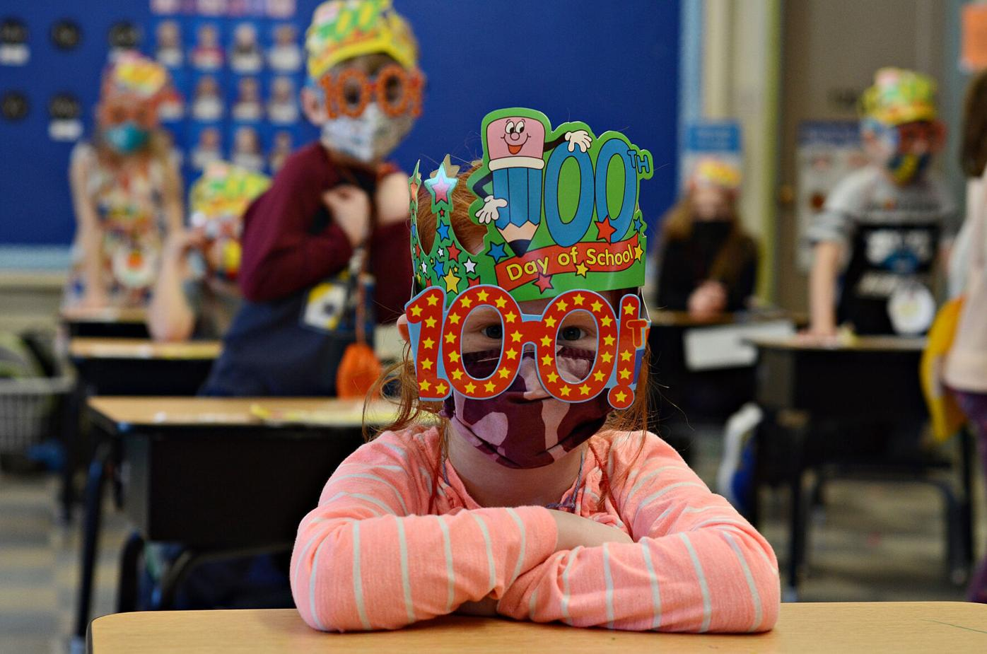 Fisher Elementary celebrates 100th day of full-time school