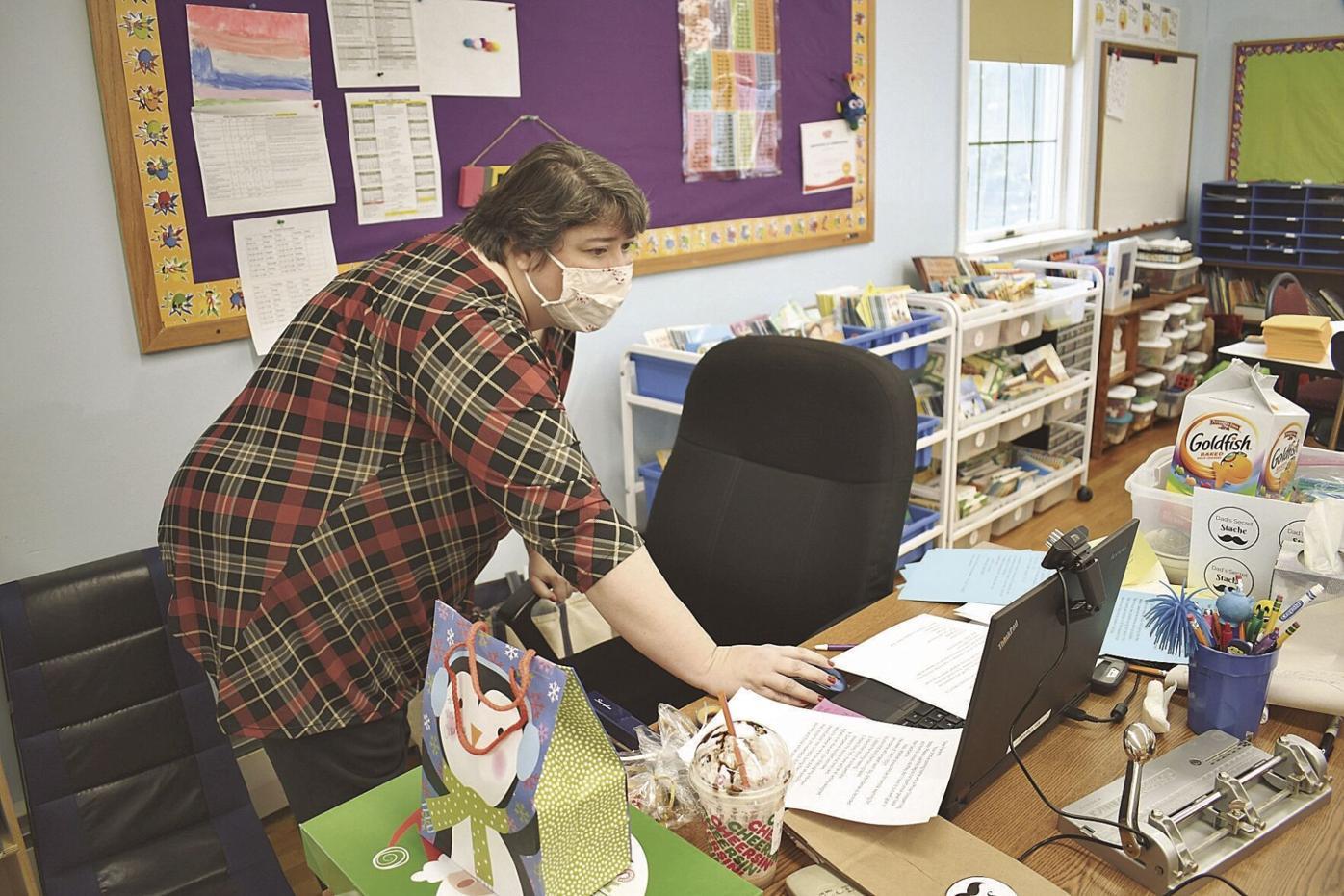 Teachers teaching during COVID
