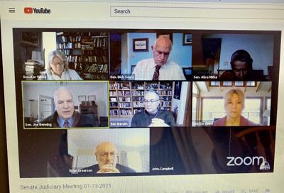 Senate Judiciary Committee meeting Jan. 13, 2021