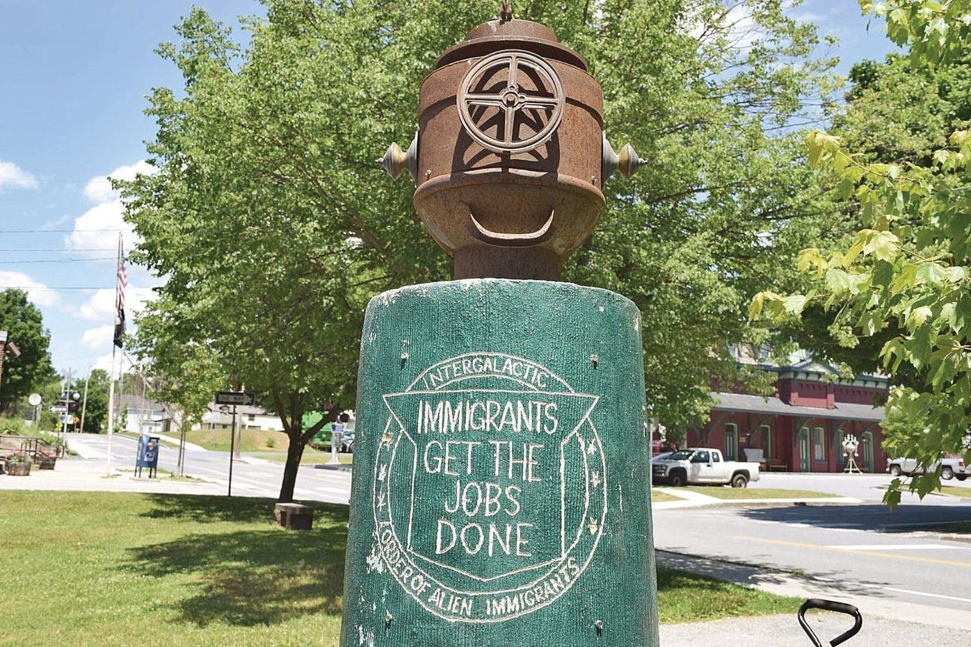 23nd annual North Bennington Outdoor Sculpture Show decorates the village