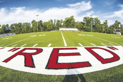 Benton Harmony Grove football practice 2 adays 8-6-13 (©Justin Manning)