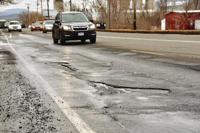 Dogged by potholes, Adams asks for state help with Route 8