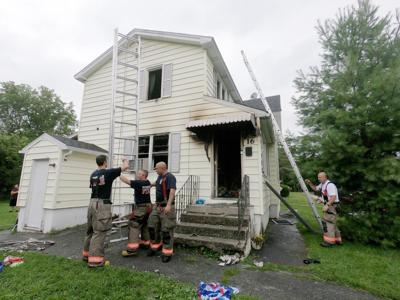 Firefighters at Pittsfield home