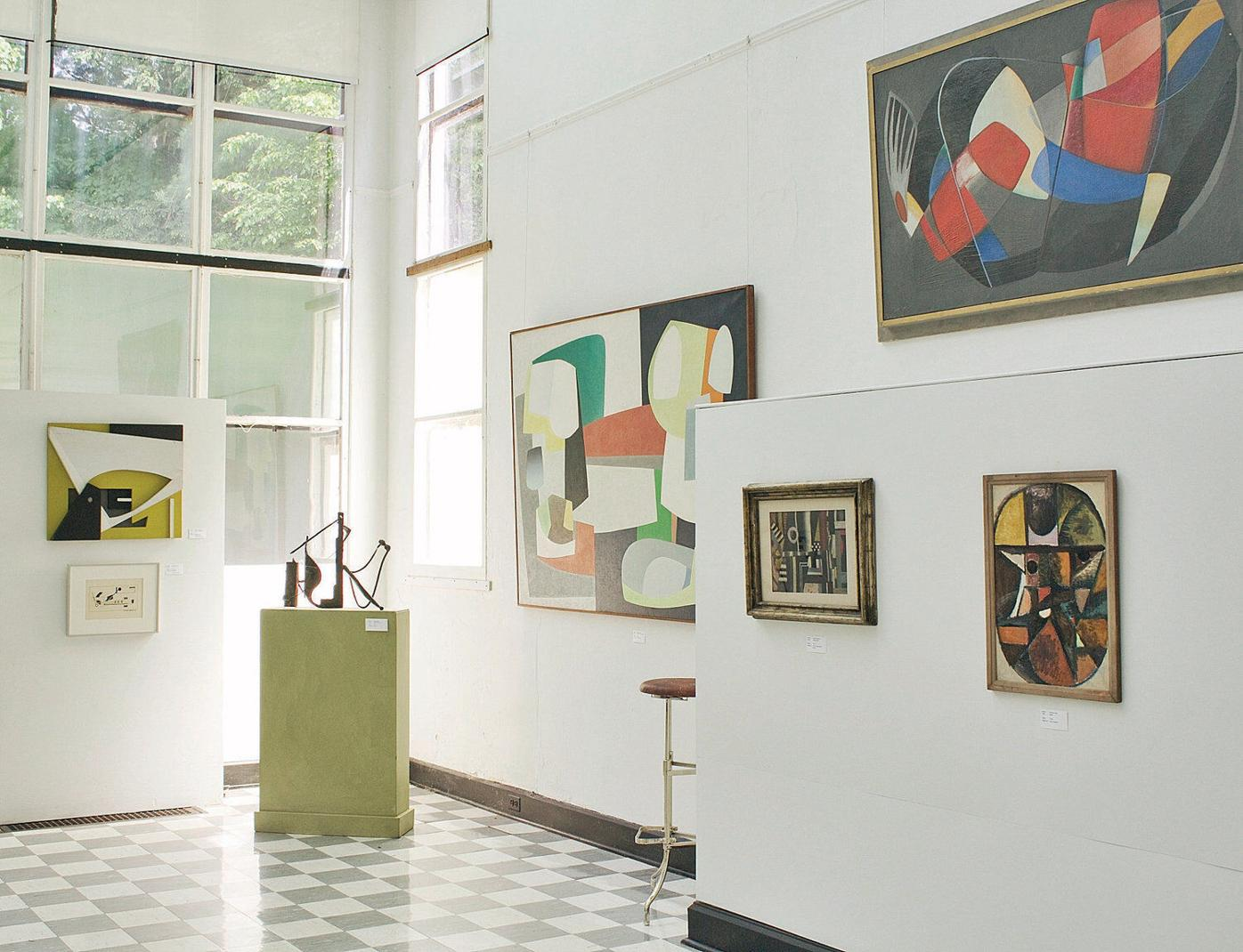 A collection of 'unseen' abstract art goes on view