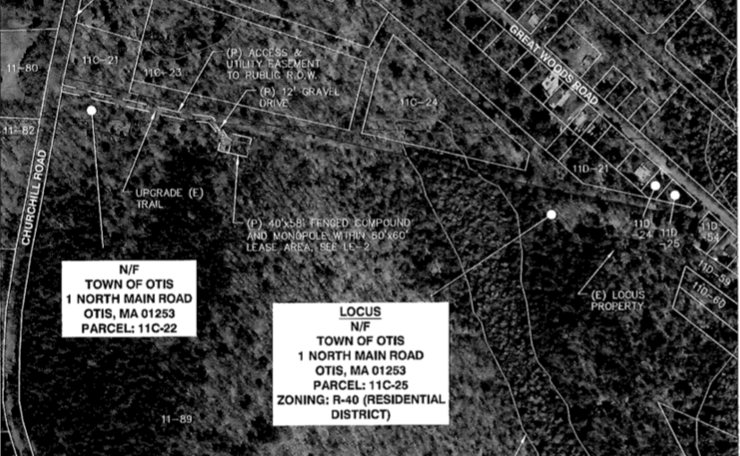 Map of tower site near Big Pond