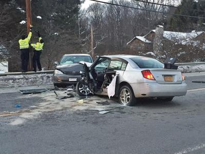 3 injured in head-on collision on Cheshire Road