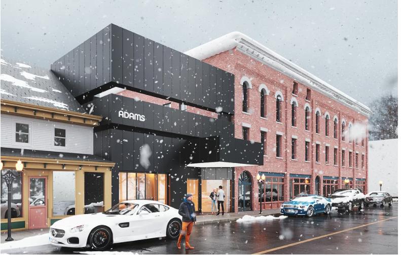 Horizontal of new Adams Theater design