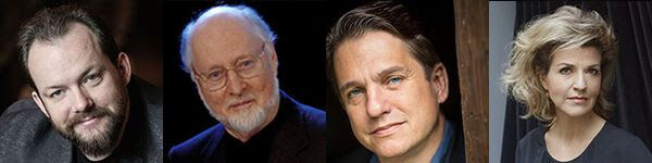 Andris Nelsons, John Williams, Keith Lockhart and violinist Anne-Sophie Mutter.